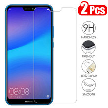 2Pcs Tempered Glass untuk Huawei P30 P20 Lite Y6 P Smart 2019 Mate 20 Screen Protector Pada Honor 8X10 9 10i Huawei P20 Lite Kaca(China)