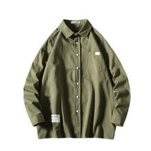 Large Sizes Men Long Sleeve Shirt Pocket Solid Color Mens Shirts Comfortable Men Long Sleeve Shirt цены