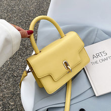 Women's Mini PU Leather Flap Crossbody Bags Sale Ladies Yellow Shoulder Handbags 2021 Female Luxury Famous Brand Totes