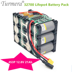 4S3P 12.8V 21Ah 32700 Lifepo4 Battery Pack with 4S40A Maximum 100A Balanced BMS for Electric Boat Uninterrupted Power Supply 12V
