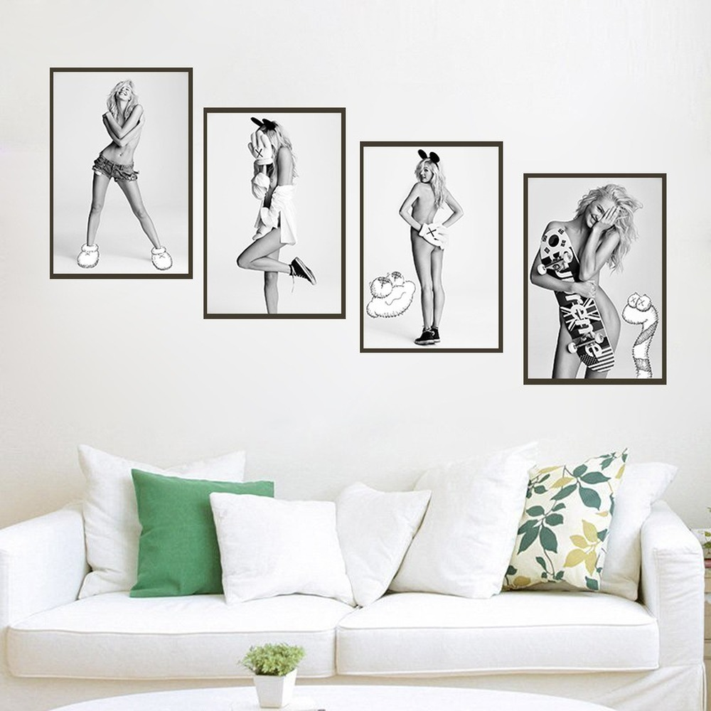 Modern Classic Sexy Beautiful Model Canvas Painting Nude Art Sex Beauty Posters Living Room Bedroom Decoration Painting Pictures image