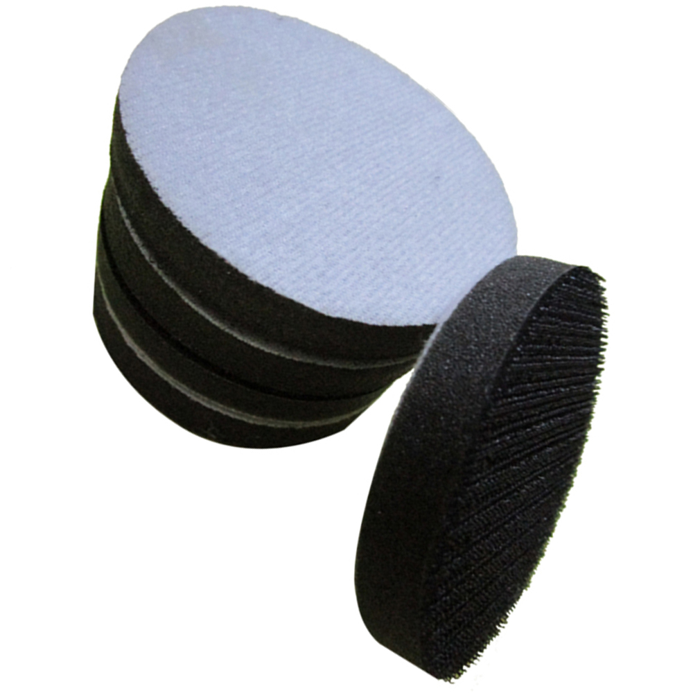 2PCS Soft Interface Pad Hook &Loop Sanding <font><b>Discs</b></font> Cushion 3inch <font><b>75mm</b></font> Power Tools image
