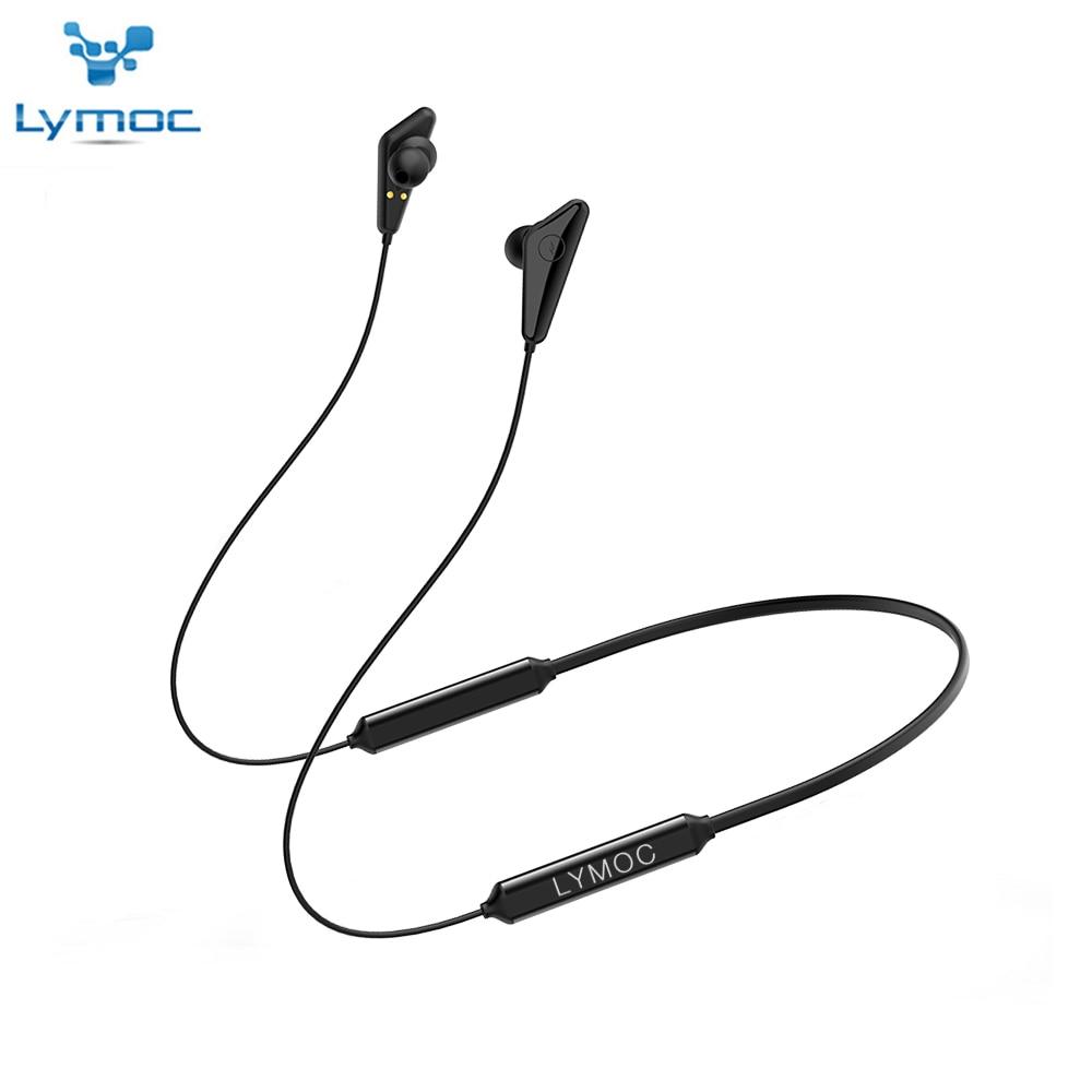 LYMOC Q5 Plus Bluetooth Earphones Wireless Headsets V5 0 Neckband Headphone Sport Running 68Hours Talktime Stereo HD MQC Mic