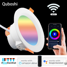 Led downlight WiFi intelligent indoor lighting application embedded installation 5W 7W 9W RGB with Alexa and Google home pageLED