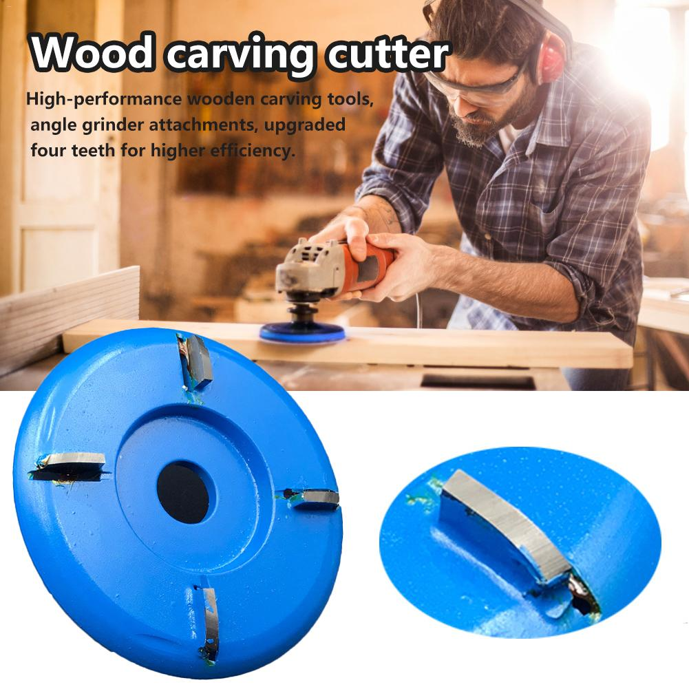 Newest Wooden Carving Cutter Angle Grinder Woodworking Turbo Plane Milling Cutter Tool Accessories #40