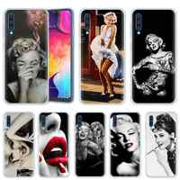 Sexy Marilyn Monroe per Samsung Galaxy A70 A50 A20e A80 A60 A40 A30 A10 M40 M30 M20 M10 A6 a8 + 2018 TPU Copertura Del Telefono Casos
