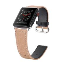 Watch Band for Apple Watch Strap Belt for iwatch Flower Cowboy Canvas Black Jean Denim for Women Men Watch Accessories canvas strap watch with flower face