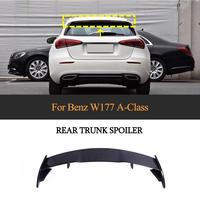 For W177 Car Rear Spoiler Wing for Mercedes Benz A Class W177 Hatchback 2019 2020 Carbon Fiber Rear Wing Boot Lid Spoiler
