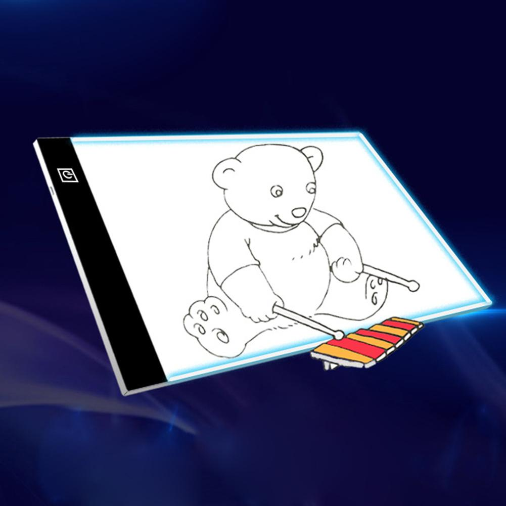 A4 Dimmable USB LED Drawing Board Art Copy Tracing Stencil Display Table Pad