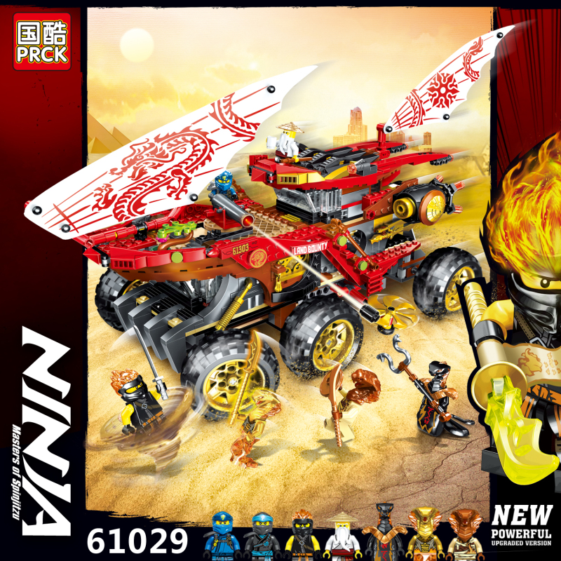 929pcs Ninja The Lioyds Titan Mech Model Building Blocks Compatible With Lepinblock <font><b>70676</b></font> Ninjagoes Kids Toy for Children image