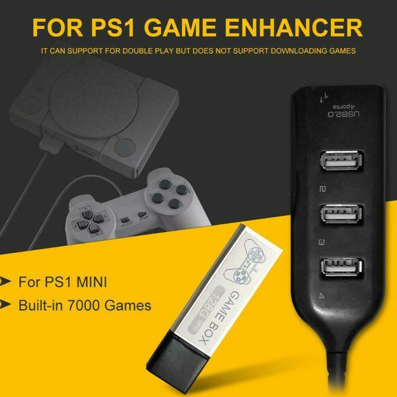 Children 128G Playing 7000 Games Game Enhancer Extended 176 Models For PS1 MINI