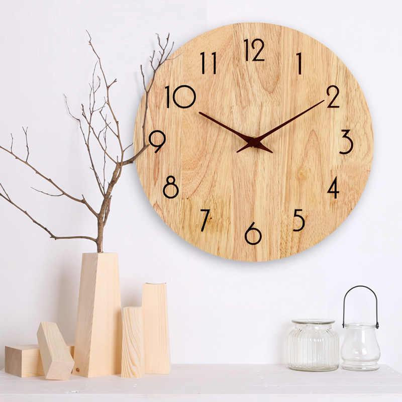 1 ชุดไม้ตัวชี้ DIY Creative Wall นาฬิกามือ 10 12 นิ้วไม้วอลนัทเข็มควอตซ์นาฬิกาเปลี่ยนชิ้นส่วนอุปกรณ์เสริม
