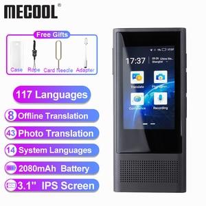 """Image 1 - Mecool W1 3.0 AI Voice Photo Translator 3.1 """"IPS 4G WIFI 8GB pamięć 2080mAh 117 języków przenośny OTG Offline Translatio"""