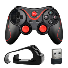 Wireless Bluetooth Controller Gamepad for Android Wireless Joystick Gaming Controller Black for Android Mobile phone PC Tv Box wireless gamepad gaming controller for ps3 android tv box pc gpd xd with otg converter computer joystick joypad