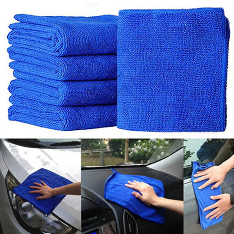 1 Pcs Microfibre Cleaning Auto Car Detailing Soft Cloths Towel Kitchen Household 20*20cm Duster Dishcloth I4W1|Cleaning Cloths| |  - title=