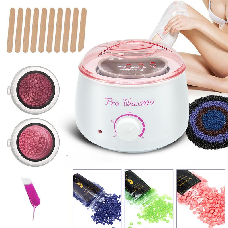Electric Pro 2020 Hot Wax Heaters SPA Waxing Machine For Hand Feet Body Hair Removal Epilator Paraffin Depilador Wax Pot Kit