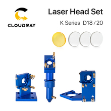Cloudray K Serie Blauw Gouden CO2 Laser Head Set Met Lens Spiegel Voor 2030 4060 K40 Lasergravure Snijmachine