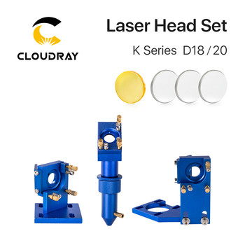 Cloudray K Series Blue Golden CO2 Laser Head Set with Lens Mirror for 2030 4060 K40 Laser Engraving Cutting Machine