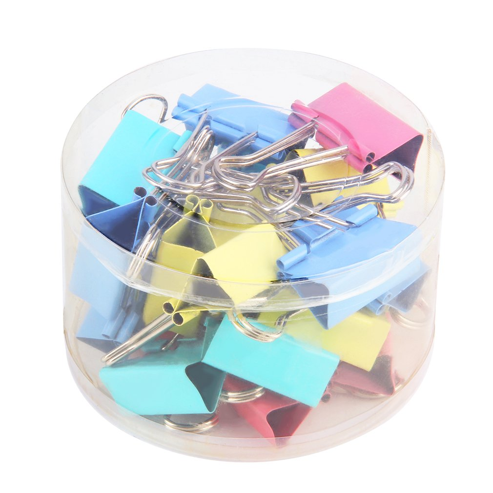 Colorful Clips Binder Metal Paper Clip Assorted Colors Office Supplies