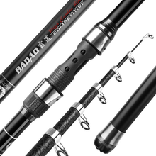 2021 new fishing suit telescopic carbon fiber 2.1-3.6m ultralight and hard portable fishing rod + spinning wheel cover