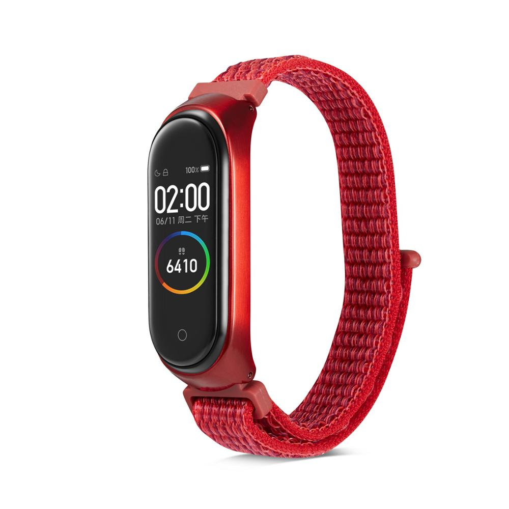Image 4 - Nylon loop replaceable Bracelet for Xiaomi Mi band 3 Sports Wristband Breathable Strap for Xiaomi Miband 4 smart watch Accessori-in Smart Accessories from Consumer Electronics