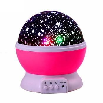 Звездное небо светодиодный проектор Луна Ночная лампа батарея USB спальня вечерние проекционные лампы для детей Ночник светильник подарок покемон