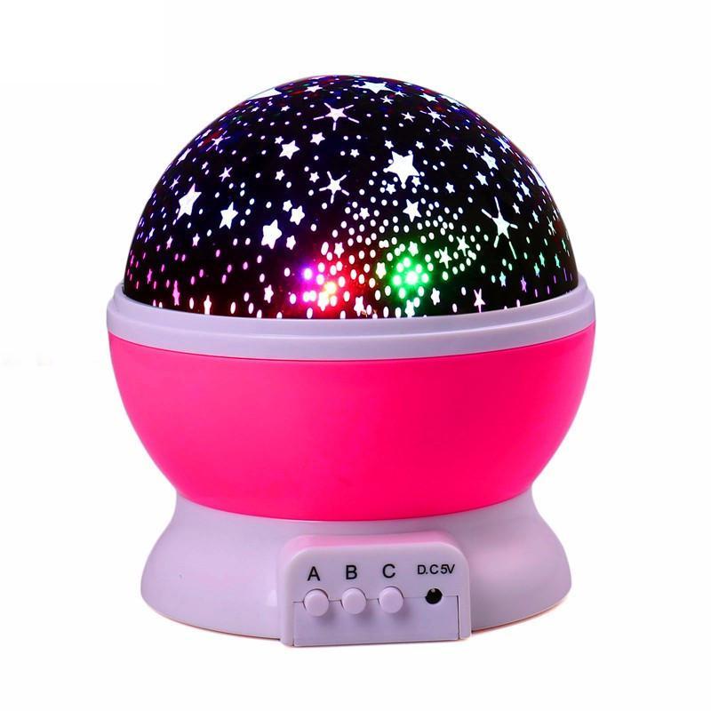 Estrelas Lua Starry Sky LED Projector Noite Bateria Lâmpada USB Quarto Partido Lâmpada de Projeção para o Presente a Luz da Noite das Crianças pokemon