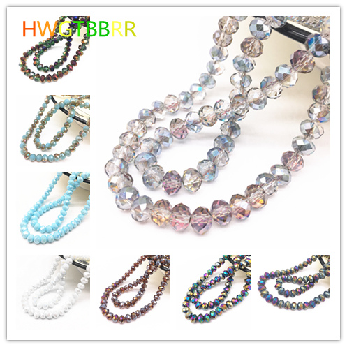 Wholesale 4×3/6×4/8x6mm Rondelle Austria Faceted Crystal Glass Beads,Wheel Beads,Transit Beads,Bracelet Necklace Jewelry Making