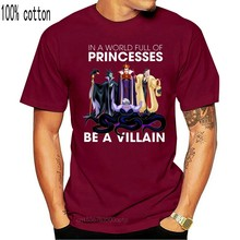 In un mondo pieno di principesse sii un cattivo divertente strega T-Shirt nera Cool Casual orgoglio t shirt uomo Unisex moda tshirt