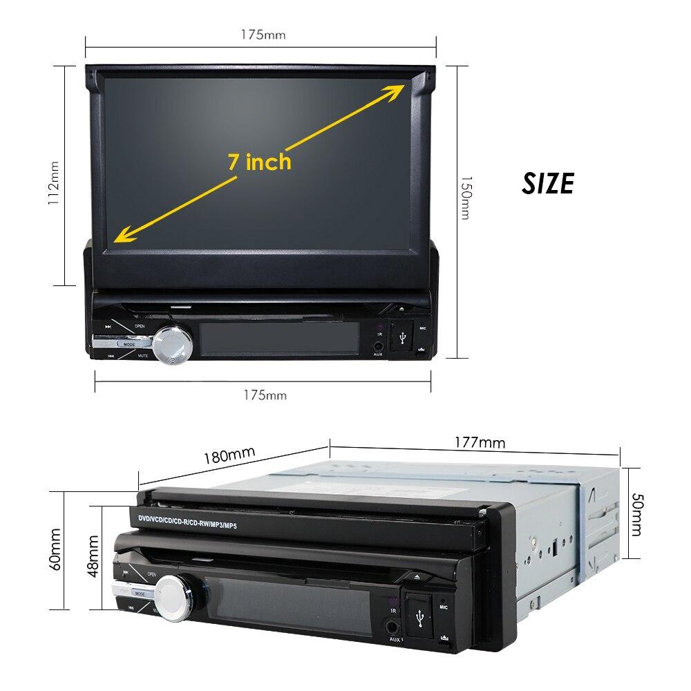 Caméra gratuite un 1 din radio voiture lecteur dvd gps navigateur magnétophone autoradio lecteur de cassette autoradio gps multimédia dab bt - 6