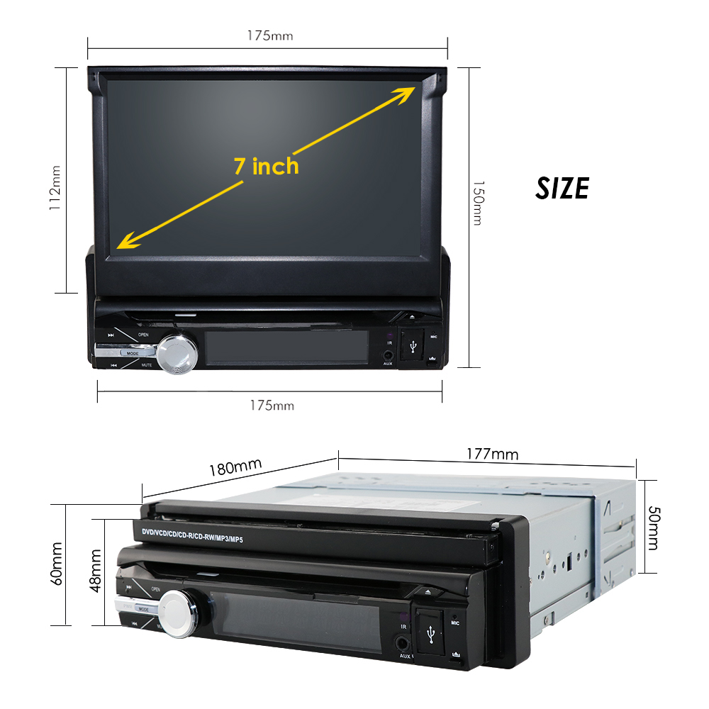 Gratis camera een 1 din radio auto dvd speler gps navigator tape recorder autoradio cassette speler auto radio gps multimedia dab bt - 6