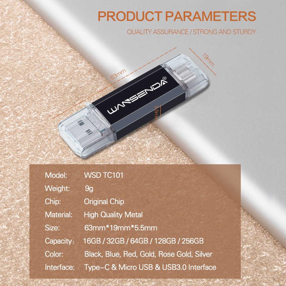 Original doble uso OTG unidad Flash USB 3 en 1 USB3.0 y tipo-C & Micro USB Stick Pen Drive 512GB 256GB 128GB 32GB 64GB pendrive