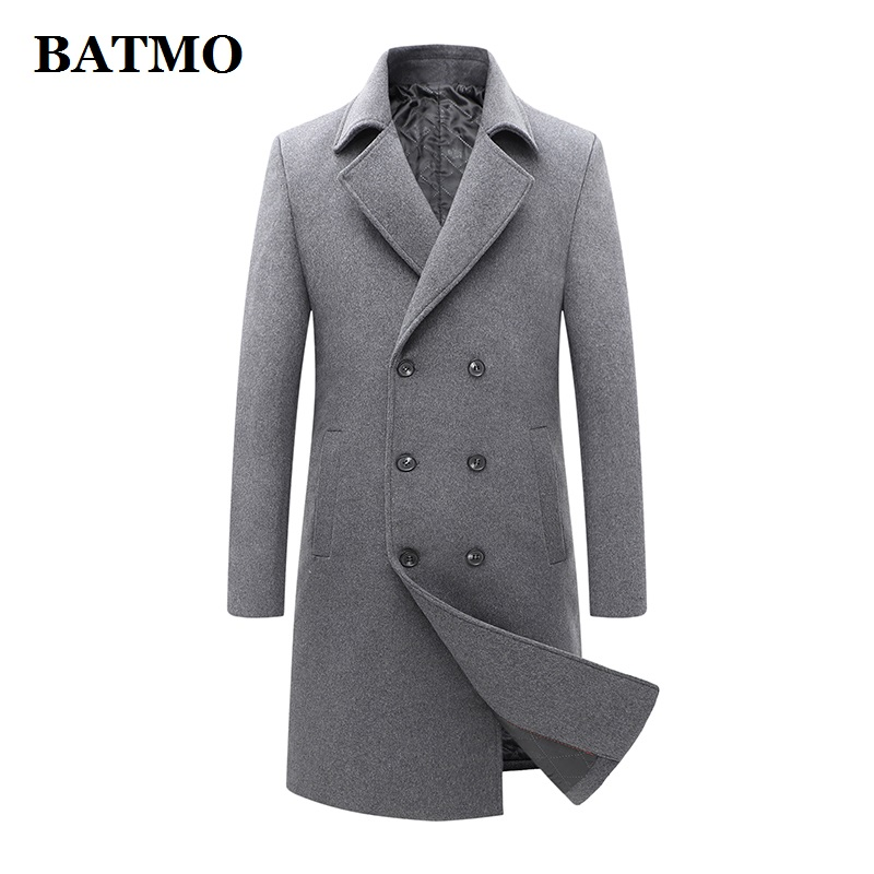 BATMO new arrival winter high quality wool trench coat men,men's wool casual jackets,plus-size M-3XL 1721