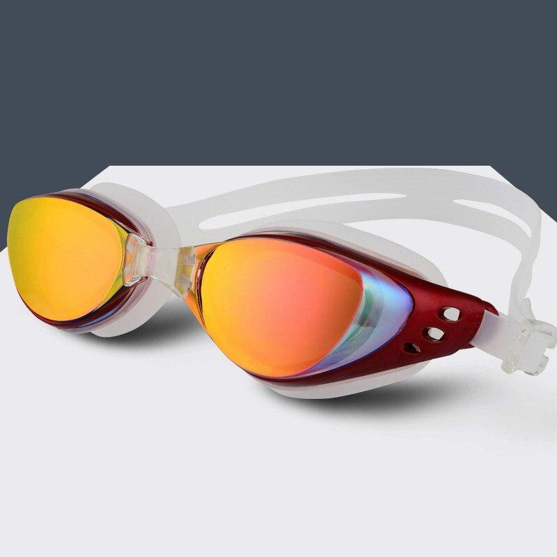 Swimming goggles Myopia Men and women Anti-Fog professional Waterproof silicone arena Pool swim eyewear Adult Swimming glasses(China)