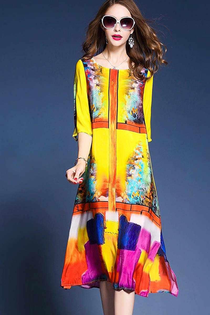 Boollili Zomer Jurk 2020 Vrouwen Print Zijden Strand Jurk Elegante Mode Boho Chic Lange Jurken Bloemen Vestido Mujer