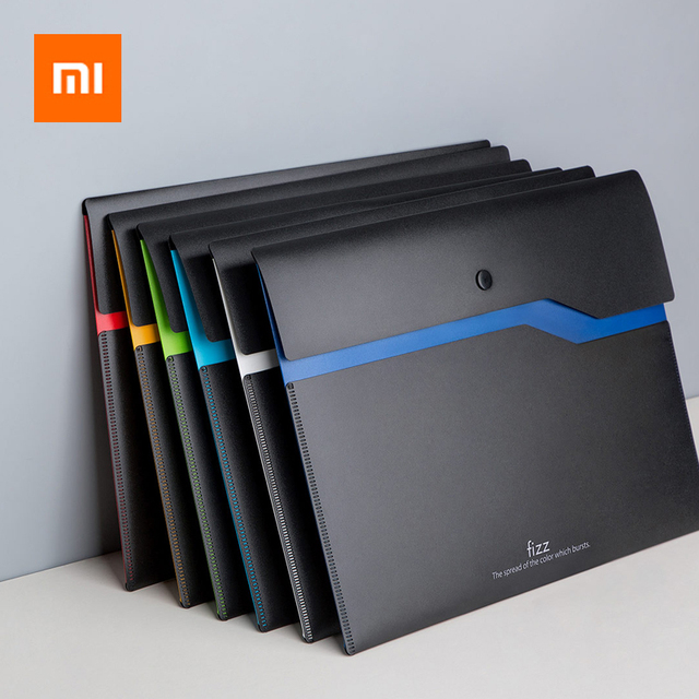 From Xiaomi Fizz Filing Product A4 File Holder Organizer 2-Layer Large Capacity Document Bag Business Briefcase Office Supply 1