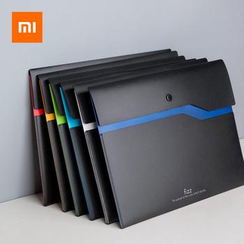 Od Xiaomi Fizz zgłoszenia produktu A4 uchwyt na dokumenty organizator 2-warstwa skóry o dużej pojemności torba na dokumenty biznes teczki biurowe dostaw tanie i dobre opinie CN (pochodzenie) Filing product file holder