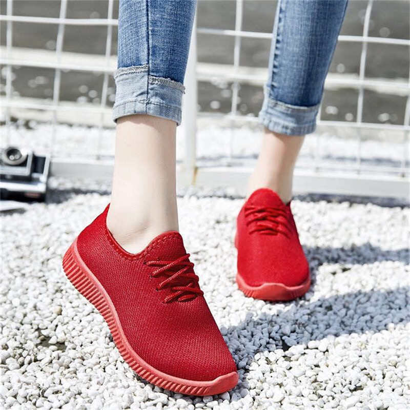2019 Women Casual Shoes Shallow Sports Shoes Women Sports Shoes Breathable Red Sports Shoes Women's Shoes Chaussure Femme