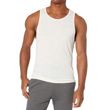 Męska koszulka z wełny Merino-ultralekka odprowadzająca wilgoć oddychająca przeciwzapachowa tanie tanio CN (pochodzenie) Czesankowej Na co dzień Stałe O-neck Men Merino Wool Tank Top