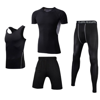 Men Sportswear Compression Sport Suits Quick Dry Running Sets Clothes Sports Joggers Training Gym Fitness Tracksuits Running Set 10