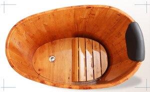 Image 3 - คุณภาพสูงอ่างอาบน้ำ Cask ผู้ใหญ่ Barrel อ่างอาบน้ำไม้ขนาดเล็กห้องน้ำอ่างไม้ Bath ที่ใช้ในครัวเรือน Barrel อ่าง