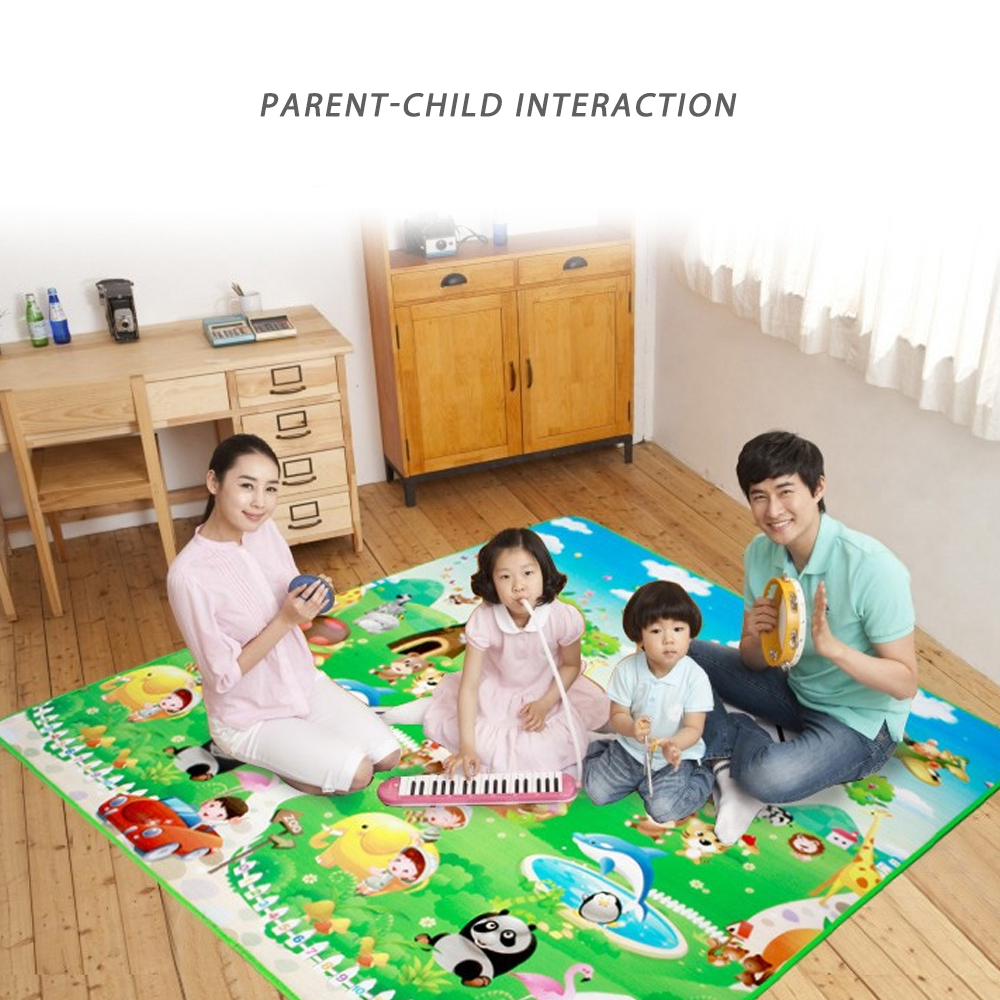 Baby Play Mat 0.5cm Thick Foldable Crawling Mat Double Surface Children Carpet Rug Foam Gym Games Play Puzzles Kids Carpets Toy