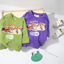 Tonytaobaby Children Summer New Products Cartoon Printed Pure Cotton Short-sleeved T-shirt