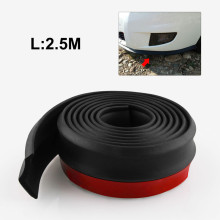 2.5M car bumper lips stickers front lip rubber protectors Exterior moldings
