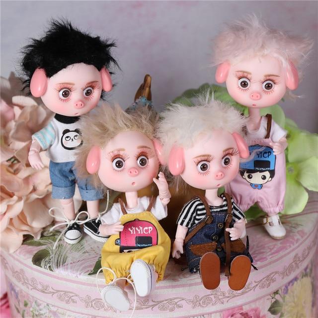 Dream Fairy 1/12 BJD DODO Doll 14cm mini doll 26 joint body Cute children gift toy ob11 6