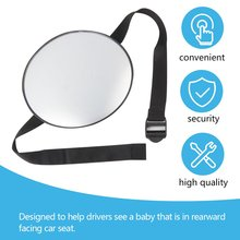 Mirror Monitor Car-Safety-View Baby Children Rear Facing Care Back-Seat Square Ward Infant