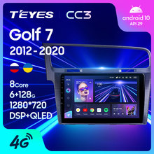 TEYES CC3 For Volkswagen Golf 7 2012 - 2020 Car Radio Multimedia Video Player Navigation stereo GPS Android 10 No 2din 2 din dvd
