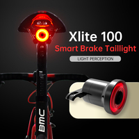 Xlite100 Taillight Auto Smart Brake Sensing Rear Light Bicycle IPX6 Waterproof night Cycling Tail LED USB Bike Rear Light Cycle Bicycle Light Sports & Entertainment -