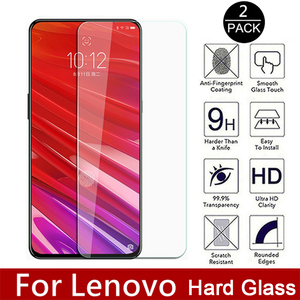 2PCS Tempered Glass for For Vibe K5 Note Plus X2 Film Hard Screen Protector For Lenovo Z5 Z6 Pro Youth Z5S 9H Movie Knockproof(China)