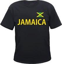 JAMAIKA T-Shirt - schwarz/gelb mit Flagge - S bis 5xl-jamaika rasta reggae Marke Neue T Shirts